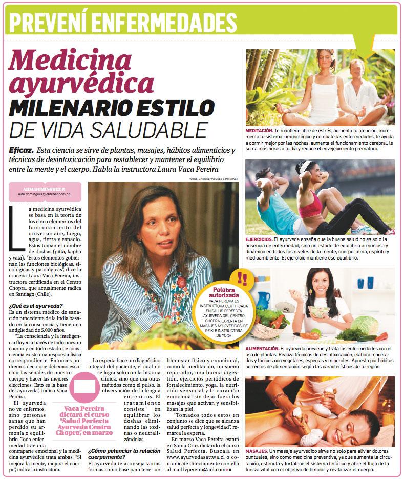 Entrevista a Laura Vaca Pereira en el Periódico El Deber